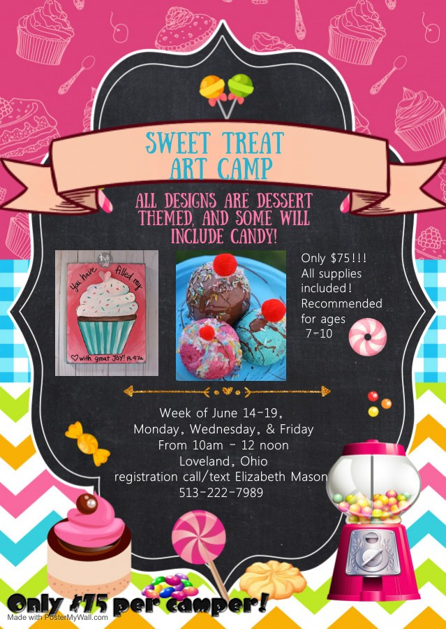 Copy of Sweet candy birthday party invitation - Made with PosterMyWall